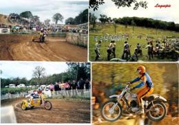 MOTO CROSS SIDE CAR CROSS LOT DE 20 CARTES POSTALES ET PHOTOS AVEC 7 TICKETS D ENTREES BAUGE BROU ET TORCE EN VALLEE - Motociclismo