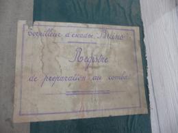 Registre Tapuscrit De Préparation Au Combat Torpilleur D'Escadre Buino 183 Pages Rare!!! - Documents