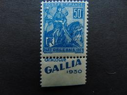 Superbe N°. 151** Type Jeanne D'Arc Avec Pub Gallia - Advertising