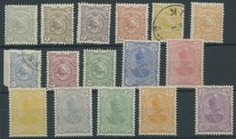 IRAN 94-109I **,o , 1897, Schah Muzzafar Ad-Din, Ohne Aufdruck, Mi.Nr. 98 Und 100 Gestempelt, Sonst Postfrisch, Satz Mei - Iran
