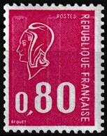 Timbre-poste Gommé Neuf** - Type Marianne De Béquet Numéro Rouge Au Verso (570) - N° 1816c (Yvert) - France 1974 - 1971-76 Marianne (Béquet)