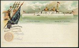 GANZSACHEN 1893, WORLD`S COLUMBIAN EXPOSITION, 11 Verschiedene Ungebrauchte 1 C. Postal Cards Der Serie Goldsmith, Prach - Ansichtskarten