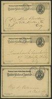GANZSACHEN 1893-1903, 6 Verschiedene Komplette Frage- Und Antwort Ganzsachenkarten (Paid Reply Postal Cards), Gebraucht, - Ansichtskarten
