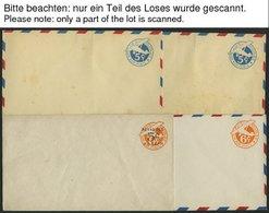GANZSACHEN Ca. 1929-1980, Partie Von 60 Ungebrauchten Luftpost-Ganzsachen Und Aerogrammen, Meist Pracht - Ansichtskarten