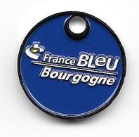 Jeton De Caddie  Média, Radio  FRANCE  BLEU  BOURGOGNE  Verso  1 € - Trolley Token/Shopping Trolley Chip