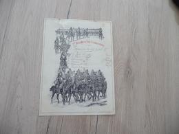 Programme Illustré 1889 1er Régiment De Cuirassiers Une Déchirure En Haut - Documents