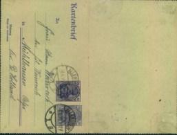 ALLENSTEIN, 1920: Kartenbrief Mit Zusatzfrankatur Ab ALLENSTEIN 8.6.20 Nach Ostpreussen - Allemagne