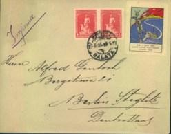 """1926, Drucksache Mit Griechischer Frankatur Ab GALATA Mit Vignette """"EXPEDITION FLOTTANTE"""" - Turquie"""
