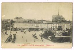 209 - Amiens - Sortie De La Gare Du Nord - Animée - CN - Dos Divisé - Non-Circulé/Vierge - Amiens