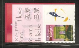 France, Personnalisé, 3599B, 3599, Avec Vignette Emblème Nord - Pas De Calais, Neuf **, TTB, Paris, L'Arc De Triomphe - Personalized Stamps