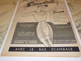 ANCIENNE  PUBLICITE ENCORE UN SUCCES GAINE SCANDALE 1952 - Autres