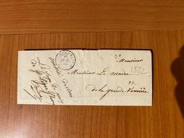 LAC Du 26 Juillet 1852 De SAINT LEGER SOUS BEUVRAY  Pour Le Maire De La Grande Verrerie ( Port Offert ) - 1849-1876: Klassieke Periode