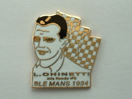 Pin's LE MANS 1934 - L.OHINETTI - ALFA ROMEO N°9 - Non Signé - Pins