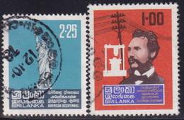 SRI LANKA 1976 SG 632-33 Two Issues Used - Sri Lanka (Ceylon) (1948-...)