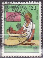Timbre Oblitéré N° 708(Yvert) Burkina Faso 1986 - Campagne Pour La Survie De L'enfant - Burkina Faso (1984-...)
