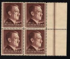 1934 18. Jan. Dienstmarken Mi DE-GO 89 - 91 Yt DE-GO 100 - 02 Sg PL 444 - 46 AFA DE-GO 89 - 91 Xx  MNH Block Of 4 - Deutschland