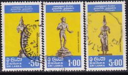 SRI LANKA 1977 SG 634-36 Compl.set Used Colomb Museum - Sri Lanka (Ceylon) (1948-...)