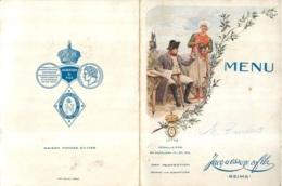 MENU DU 10/12/1933 AU RESTAURANT GAMBIER VVE BASART LA CIGALE REMOISE CHAMPAGNE JACQUESSON REIMS - Menus
