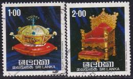SRI LANKA 1977 SG 637-38 Compl.set Used Regalia Of The Kings Of Kandy - Sri Lanka (Ceylon) (1948-...)