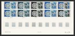 90736a Nouvelle Caledonie PA N° 166 Arphila 75 1975 Essai Proof Non Dentelé Imperf ** MNH Bloc 10 Coin Daté - Esposizioni Filateliche
