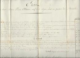 FRANCE INTERRESSATS ETAT DES SERVICES EN MER D'UN LIEUTENANT CORSAIRE 1819 - Documents