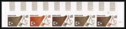 90745 Monaco N° 1012 Arphila 75 1975 Bande 5 Strip Essai Proof Non Dentelé Imperf ** MNH - Monaco