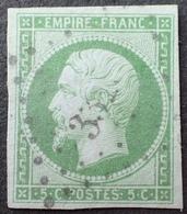C539/10 - NAPOLEON III N°12 - LPC - LUXE - Cote : 95,00 € - 1853-1860 Napoléon III.