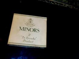 """Publicité Ancienne  Boite Paquet En Carton De Cigarette Anglaise Vide Marque """" De Reské """" MINORS Godfrey Phillips London - Cigarettes - Accessoires"""