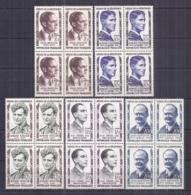 Francia 1957. YT = 1100-04 - Nuevos Sin Fijasellos (**). Heroes De La Resistencia - Neufs