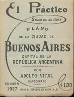 Plano De La Ciudad De Buenos Aires Capital De La Republica Argentina Por Adolfo Vital - 1927 - Bücher, Zeitschriften, Comics