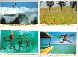 4 Cpm Publicité Les Voeux De L'été Expo Espace Paul Ricard 1995-1996-1997 Cyclisme St Gaudens-Castres 1991 Tour De Fce - Publicité