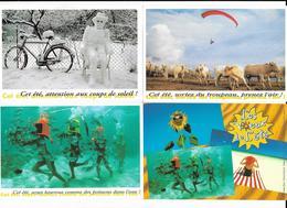 4 Cpm Publicité Les Voeux De L'été Expo Espace Paul Ricard 1995-1996-1997 - Publicité