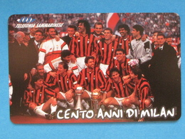 SAN MARINO C&C 7040 - CENTENARIO MILAN SQUADRA - NUOVA MINT - San Marino