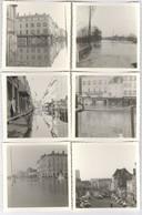 Lot De 10 Photos Inondations De Chalon Sur Saône - 1970 - Format 9 X 9 Cm - Avec Négatifs - Places