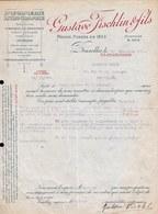 FACTURE DE 1920 - IMPRIMERIE LITHOGRAPHIE  * GUSTAVE FISCHLING & FILS  - Bruxelles * - Printing & Stationeries