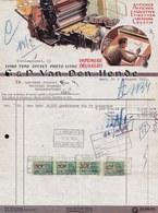 FACTURE DE 1955 - * IMPRIMERIE LITHOGRAPHIE  VAN DEN HENDE - Gent  * Affiches - étiquettes - Printing & Stationeries