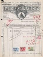FACTURE DE 1935 - * PRODUITS IMPRIMERIE LITHOGRAPHIE  HUBERT DRESSE - BRUXELLES - PARIS - ART NOUVEAU - Printing & Stationeries