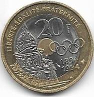 LOT DE 2 PIECES DE 20 FRANCS..MONT ST MICHEL + COUBERTIN... - France