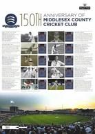 Gran Bretagna, 2014 CS23 150° Ann. Del Middlesex County Cricket Club, Smiler, Con Custodia, Perfetto - Personalisierte Briefmarken