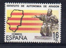 ESPAGNE - SPAIN - 1984 - AUTONOMIE DE LA PROVINCE DE L'ARAGON - AUTONOMY OF THE ARAGON PROVINCE - - 1931-Aujourd'hui: II. République - ....Juan Carlos I