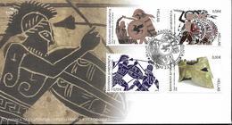 2010 Griechenland Mi. 2562-65 FDC  2500. Jahrestag Der Schlacht Bei Marathon. - FDC