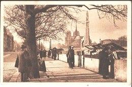 23. Le Quai De La Tournelle Vers Notre Dame. à Miss Lucienne Bouchet à Londres . Edit D'Art Yvon Paris. 1936. - La Seine Et Ses Bords