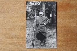 Carte Photo Le Garde Voie  Réserviste Du 145  RI Beau Plan En 1914    à Nancy ? - War, Military