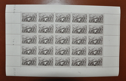 Feuille Complète De 25 Timbres FRANCE 1941 N°497 - 1f+2f (SECOURS NATIONAL- ENTR'AIDE D'HIVER DU MARÉCHAL) - Full Sheets