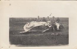 GUERRE 14-18: Avion Français écrasé Au Sol - Soldats Français Et Américains - Guerre 1914-18