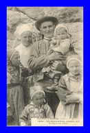 Plougastel * Un Papa Et Ses Enfants   ( Scan Recto Et Verso) - Plougastel-Daoulas