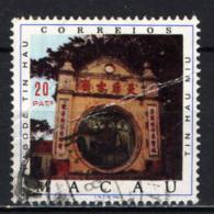 MACAO - 1976 - Tin Hau Pagoda - FRANCOBOLLO DIFETTOSO - USATO - Macao