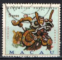 MACAO - 1971 - DRAGON MASK - USATO - Macao