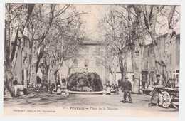 CPA VAUCLUSE.PLACE DE LA MURETTE.REMOULEUR A DROITE - Pertuis