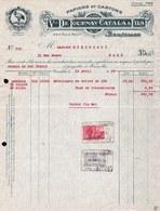 FACTURE DE 1926 - * FABRIQUE DE PAPIER ET CARTON * VEUVE DE TOURNAY CATALA & FILS à BRUXELLES - Printing & Stationeries